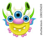monster for halloween or other... | Shutterstock . vector #108155633