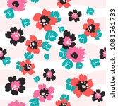 simple floral pattern with... | Shutterstock .eps vector #1081561733
