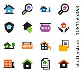 solid vector ixon set   house... | Shutterstock .eps vector #1081565363
