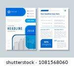 annual report  broshure  flyer  ... | Shutterstock .eps vector #1081568060