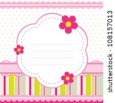 Stock vector vector background for a baby girl 108157013