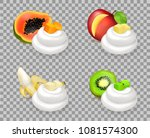 sweet ripe fruits with... | Shutterstock .eps vector #1081574300