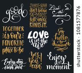 vector set of hand lettering... | Shutterstock .eps vector #1081577876
