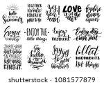 vector set of hand lettering...   Shutterstock .eps vector #1081577879