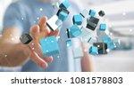businessman on blurred... | Shutterstock . vector #1081578803