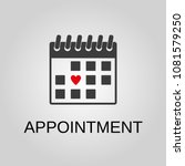 appointment icon. appointment... | Shutterstock .eps vector #1081579250