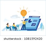 education online training... | Shutterstock .eps vector #1081592420