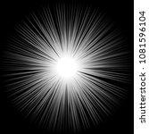 radial black white zoom flash... | Shutterstock .eps vector #1081596104