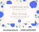 certificate of completion...   Shutterstock .eps vector #1081600400