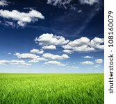 Wheat Field Against Blue Sky...