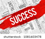 success word cloud  business... | Shutterstock . vector #1081603478