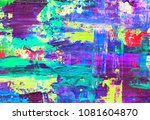 hand painted abstract... | Shutterstock . vector #1081604870