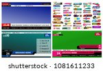 set of tv news bars. design... | Shutterstock .eps vector #1081611233