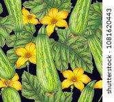 seamless pattern of hand drawn... | Shutterstock . vector #1081620443