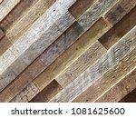 aged wood. seamless pattern... | Shutterstock . vector #1081625600