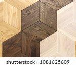 natural wooden background... | Shutterstock . vector #1081625609