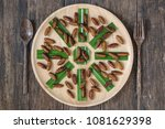 insects food.fried silkworm... | Shutterstock . vector #1081629398