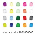 large set of t shirts | Shutterstock .eps vector #1081630040