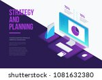 concept for management and... | Shutterstock .eps vector #1081632380