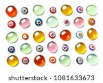 collection of colorful glass... | Shutterstock . vector #1081633673