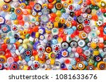 collection of colorful glass... | Shutterstock . vector #1081633676