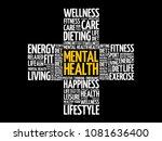 mental health cross word cloud... | Shutterstock .eps vector #1081636400