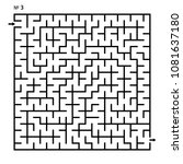 labyrinth  maze conundrum for...   Shutterstock .eps vector #1081637180