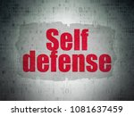 safety concept  painted red...   Shutterstock . vector #1081637459