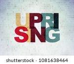 politics concept  painted... | Shutterstock . vector #1081638464