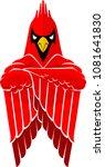 tough cardinal bird mascot ... | Shutterstock .eps vector #1081641830