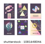 trendy abstract posters set... | Shutterstock .eps vector #1081648046