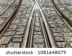 close up of tram rails . ... | Shutterstock . vector #1081648079