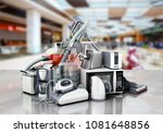 home appliances group of vacuum ... | Shutterstock . vector #1081648856