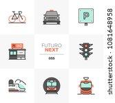 modern flat icons set of...   Shutterstock .eps vector #1081648958