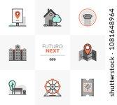 modern flat icons set of city... | Shutterstock .eps vector #1081648964
