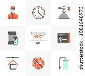 modern flat icons set of hotel... | Shutterstock .eps vector #1081648973