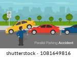 car accident on parallel... | Shutterstock .eps vector #1081649816