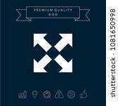 extend  resize icon. cross...   Shutterstock .eps vector #1081650998