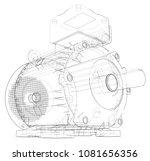 electric motor outline. vector...   Shutterstock .eps vector #1081656356