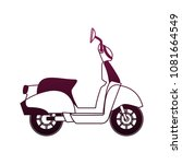 scooter motorcycle isolated on... | Shutterstock .eps vector #1081664549