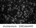 black bokeh  abstract black... | Shutterstock . vector #1081666400