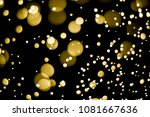 gold bokeh  abstract gold bokeh ... | Shutterstock . vector #1081667636