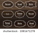set of vector vintage style... | Shutterstock .eps vector #1081671278