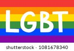 gay pride flag background with... | Shutterstock .eps vector #1081678340