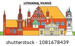 lithuania  vilnius. city... | Shutterstock .eps vector #1081678439