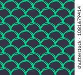 mermaid tail seamless pattern.... | Shutterstock .eps vector #1081679414
