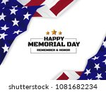happy memorial day background.... | Shutterstock .eps vector #1081682234