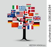 world flags. vector... | Shutterstock .eps vector #108168284