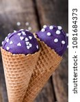 ice cream  blueberry ice cream... | Shutterstock . vector #1081684373