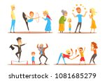 rope walker and magician... | Shutterstock .eps vector #1081685279